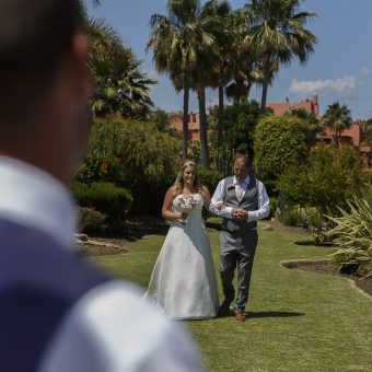 Rai and Shane photo wedding Marbella